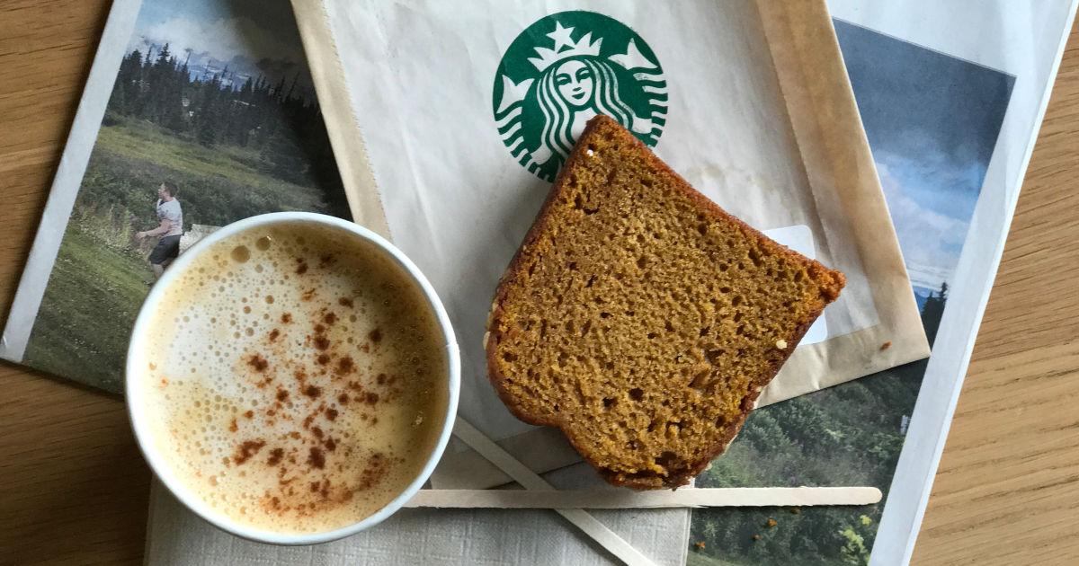 Starbucks Pumpkin Spice Latte and Pumpkin Loaf