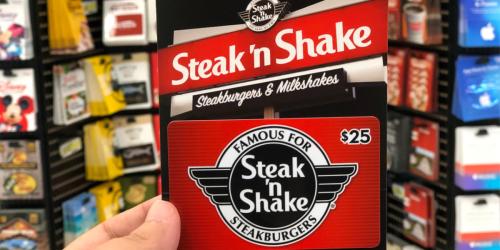 $25 Steak 'n Shake Digital Gift Card Only $20