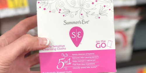 Summer's Eve Cleansing Cloths 3-Pack Only $4.90 Shipped on Amazon | Just $1.63 Each