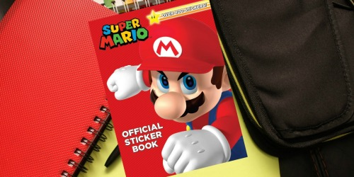 Super Mario Official Sticker Book Only $6.99 | Over 800 Stickers + Activities
