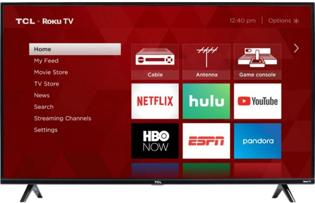TCL TV with Roku display