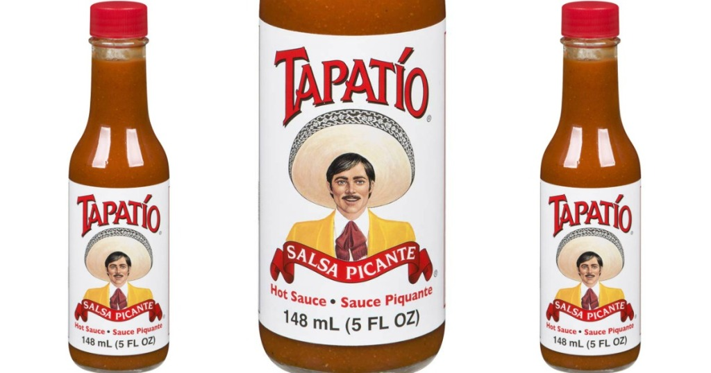stock images of Tapatio hot sauce bottles