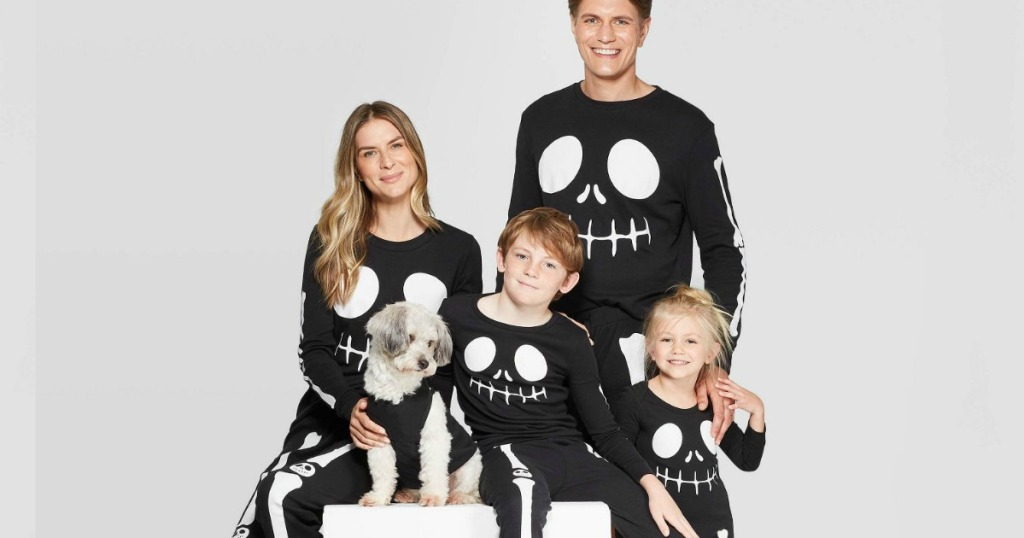 Family Christmas Pajamas Including Dog.Matching Halloween Pajamas For The Family Available Now At