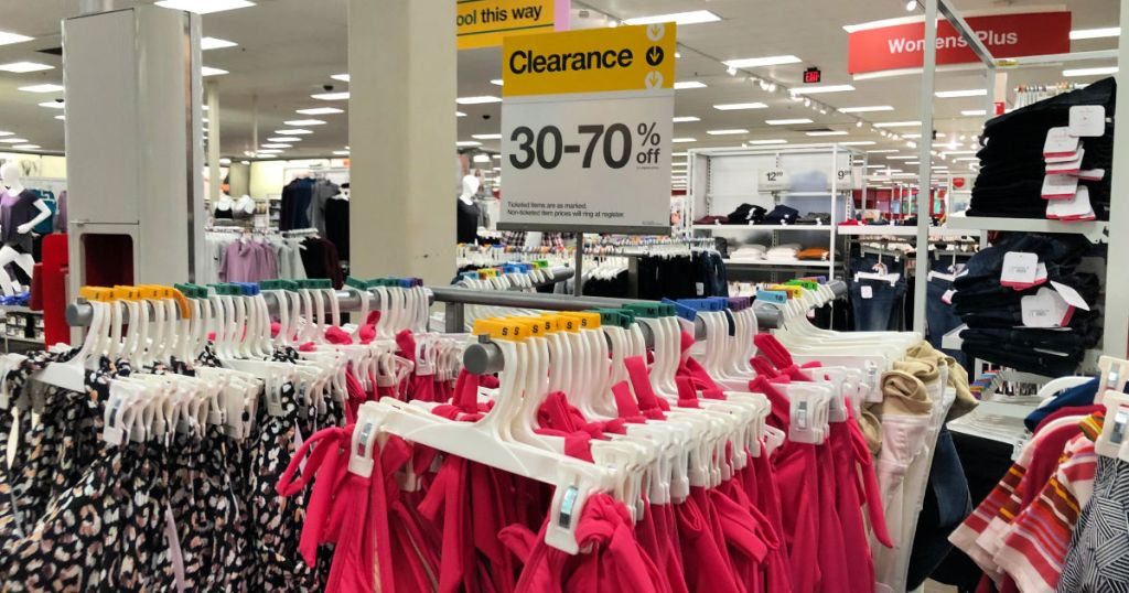 Target Maternity clearance rack with sign
