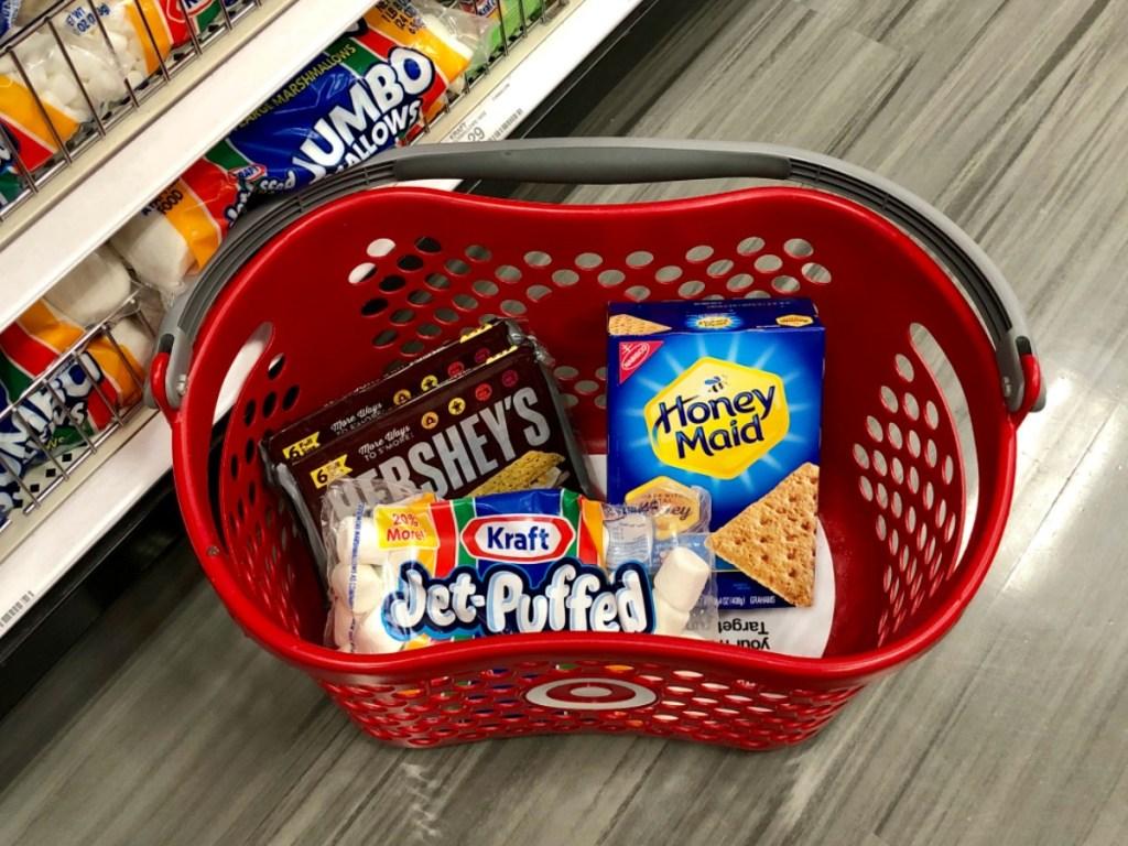 Target S'mores ingredients in basket