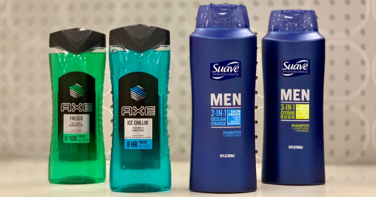Target Suave and Axe Men's Personal Care Products