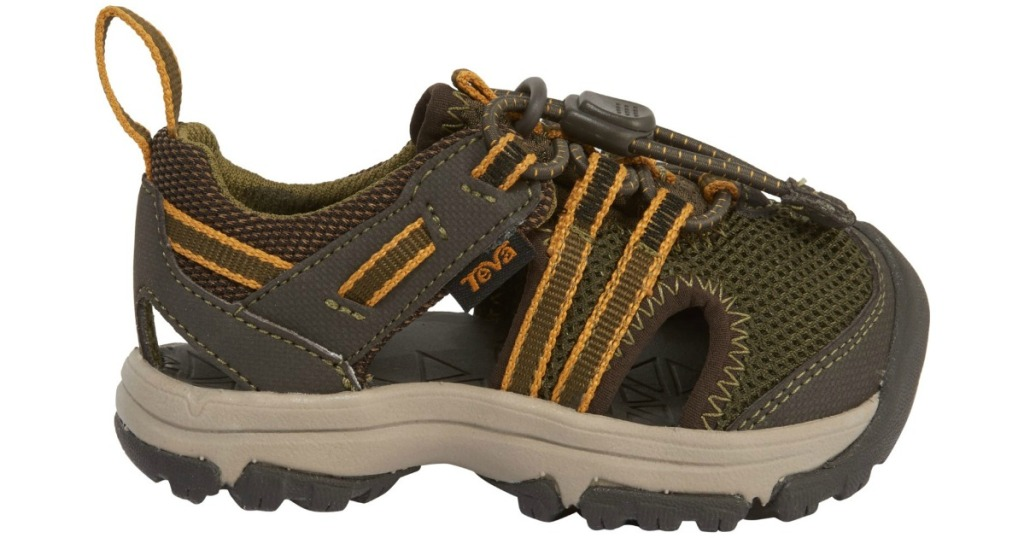 green and gold teva sandals