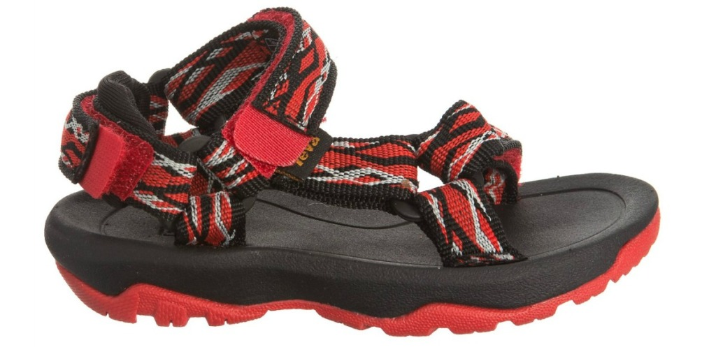 red and white teva sandals
