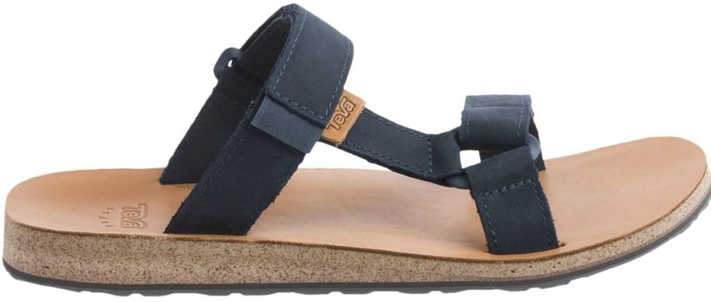 mens blue leather sandals