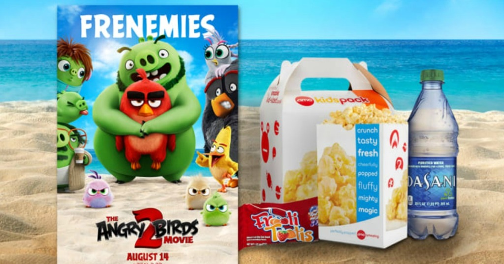 The Angry Birds 2 Movie poster near Kids Snack Pack deal