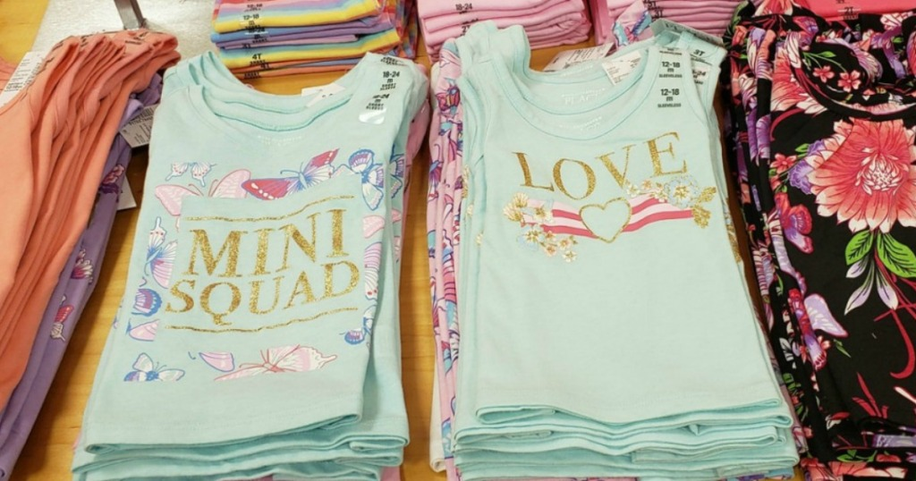 girls tanks and tees in-store