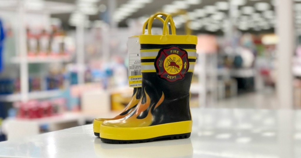 Cat & Jack brand Fireman Rain Boots on clearance at Target