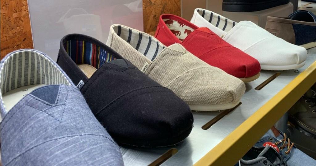 Toms Alpargata Shoes on store shelf