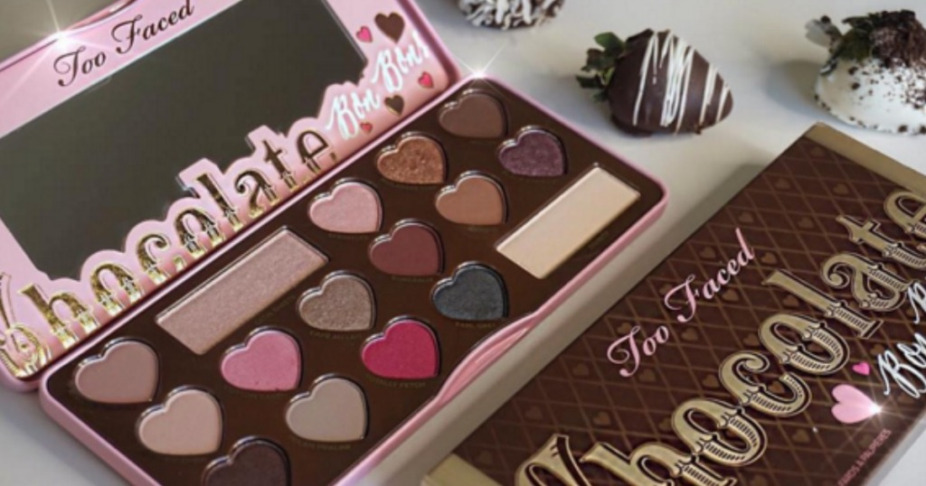 Too Faced Chocolate Bon Bon Palette with chocolate covered strawberries