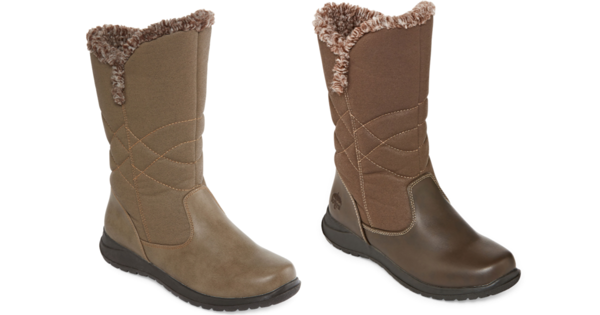 two Totes Womens Belle Winter Zip Boots in different colors