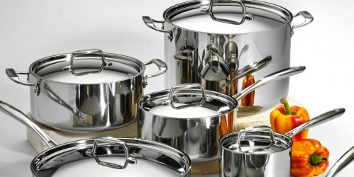 Tramontina 12-Piece Stainless Steel Cookware Set Only $199 Shipped (Regularly $300) – Awesome Reviews
