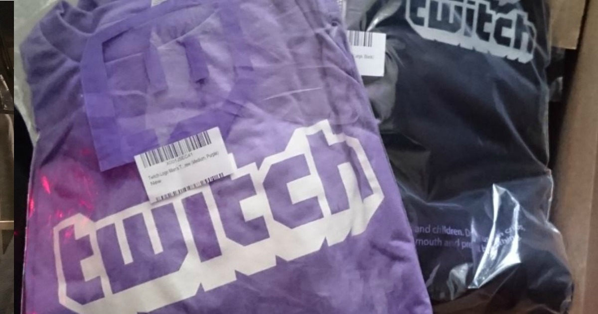 Twitch t-shirt in wrapper