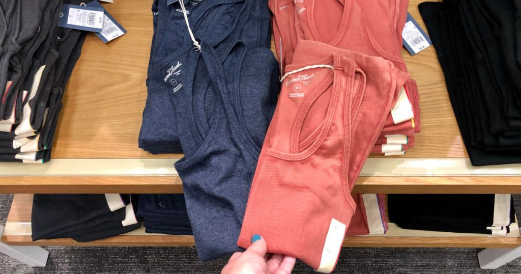 Navy and Coral Universal Thread Tank Tops in Target