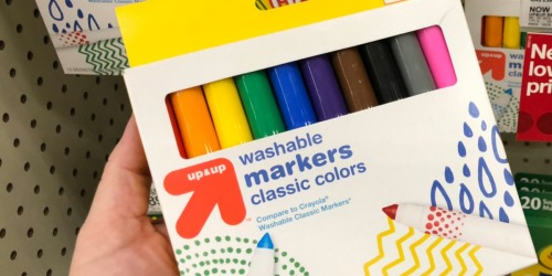 Up & Up Washable Markers 10-Count ONLY 55¢ at Target (Regularly $3) | More School Supply Deals