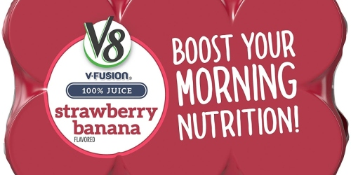 V8 V-Fusion Juice 24-Pack Only $11 at Amazon | Just 46¢ Per Can