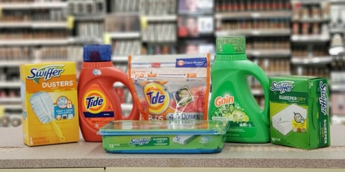 6 Household Products Just $3.94 After Walgreens Rewards (Tide, Swiffer, Gain, & More)