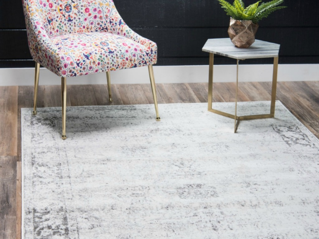 mistana rug by wayfair in living room