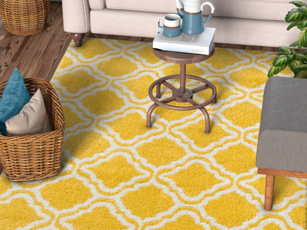 Well Woven Yellow Calipso Star Bright Rug