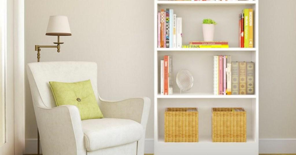 Hampton Bay brand White 5-shelf bookcase