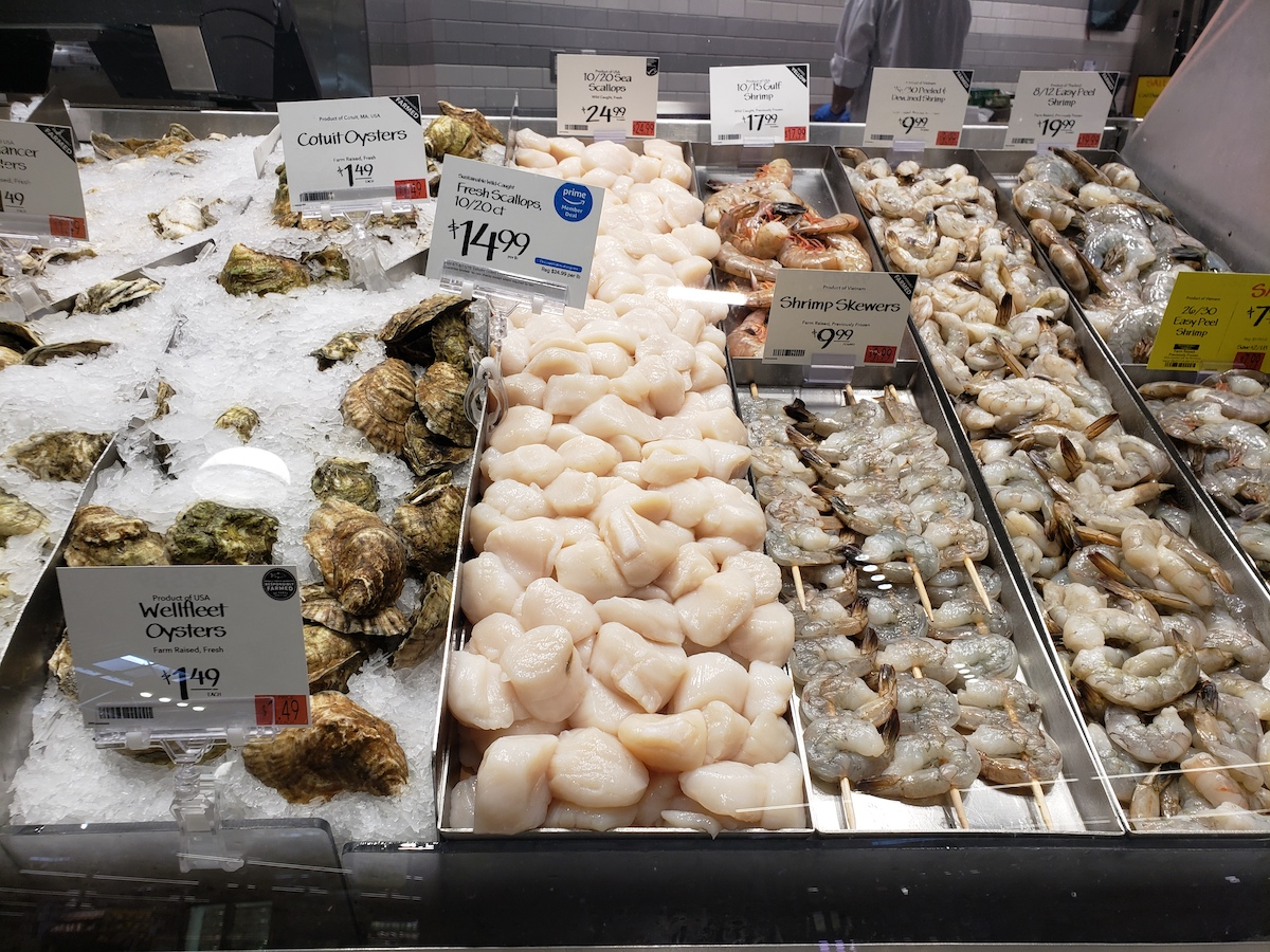 fresh scallops at whole foods