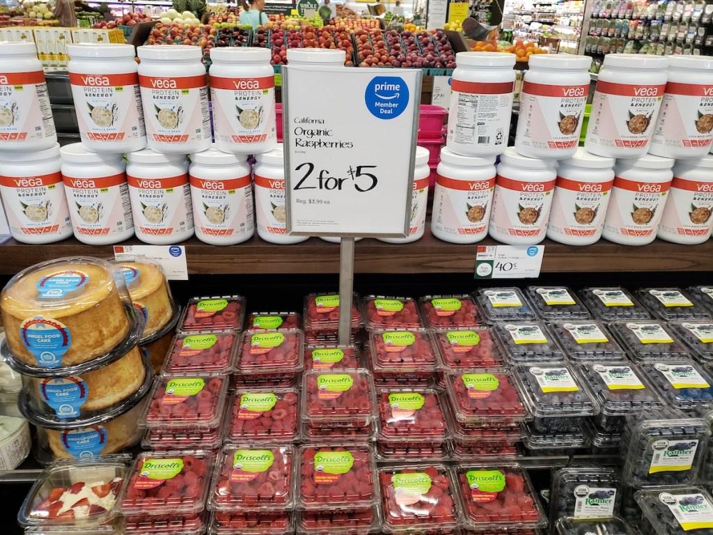 organic raspberries at whole foods