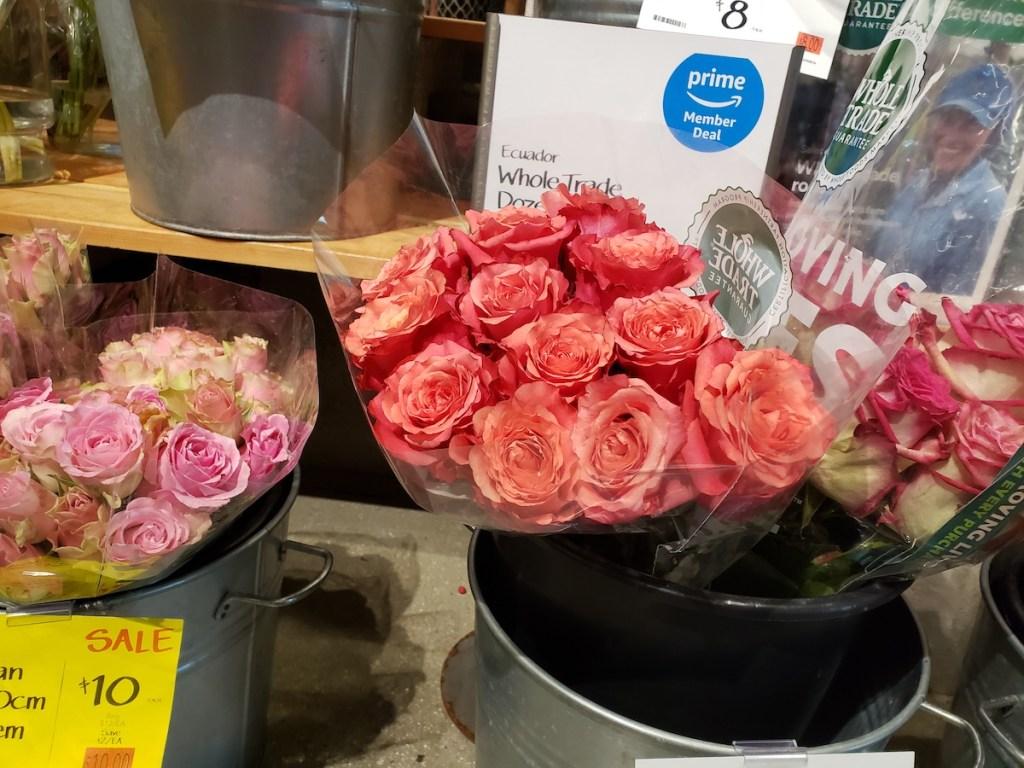 dozen roses at whole foods