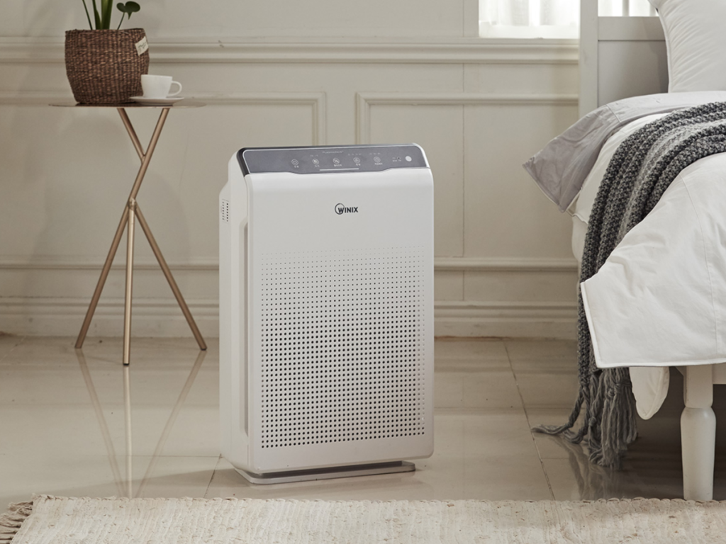 Winix C535 with PlasmaWave Technology Air Cleaner in bedroom