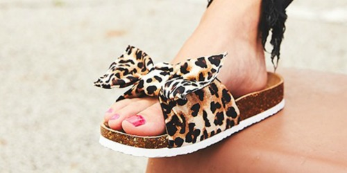 Women's Big Bow Sandals Only $13.99 at Zulily | Cheetah, Gingham & More