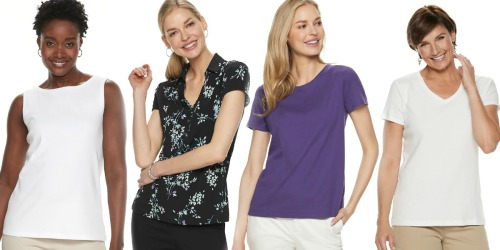 Croft & Barrow Women's Tops as Low as $4.79 at Kohl's (Regularly $13+)