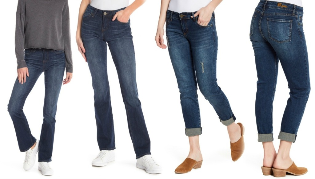 Two different styles of KUT from the Kloth women's luxury denim jeans