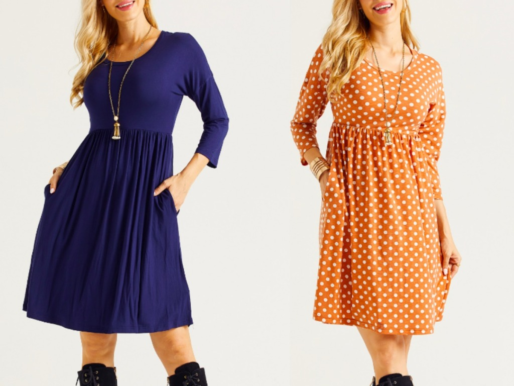 two ladies wearing zulily dresses