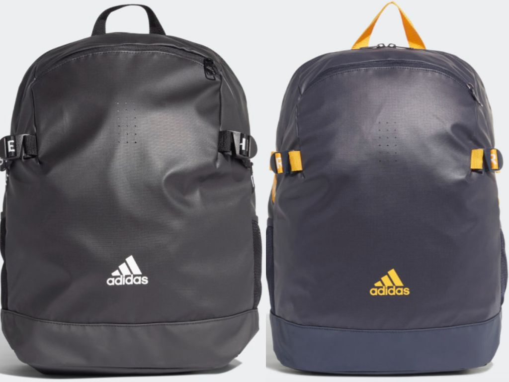 black and white and gold adidas Children's Training Backpack