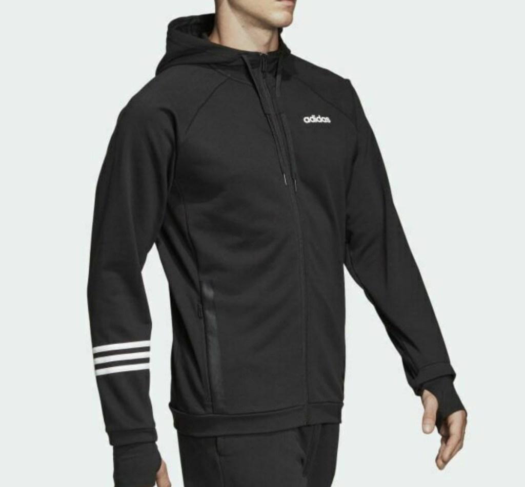 adidas brand Men's jacket in black