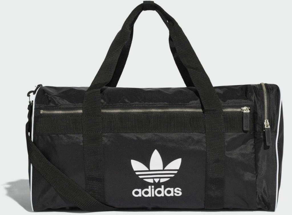 Large Men's duffel bag with white adidas logo