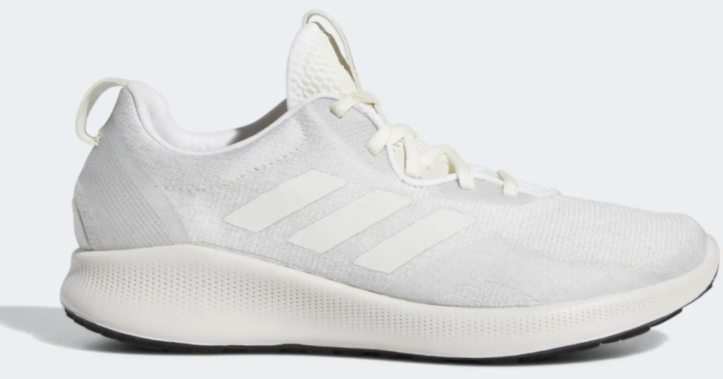 Women's adidas running shoe in gray and cream color