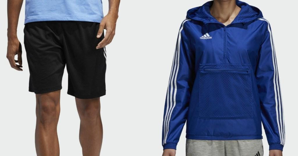 adidas shorts and jacket
