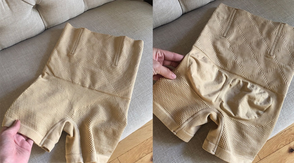 side by side of shapewear shorts from Amazon