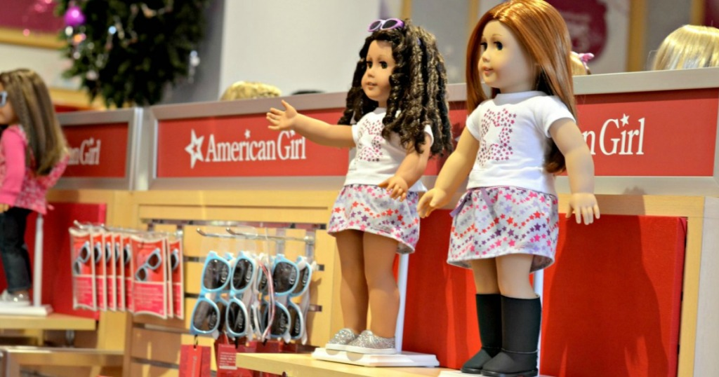 American Girl store with dolls and accessories on display