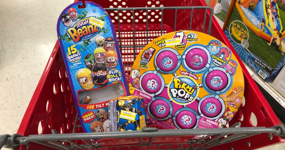 mighty beanz and pikmi pops toys in Target shopping cart