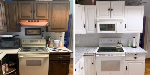 This Under $300 Kitchen Transformation Took Less Than a Week