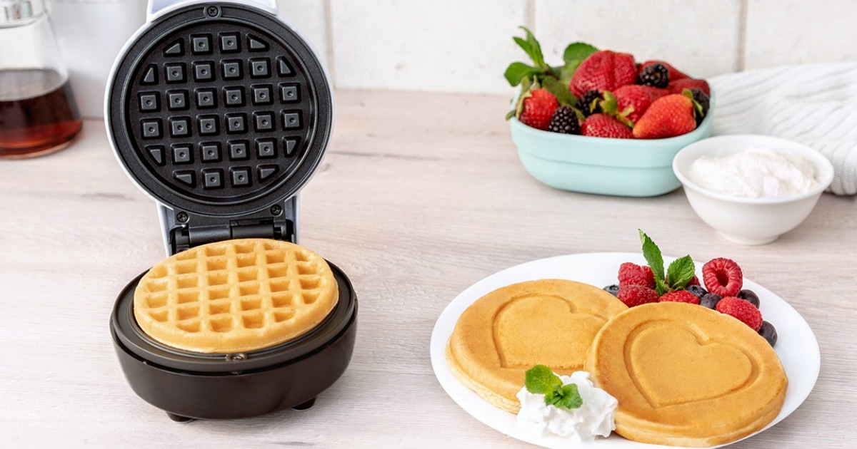 Bella Mini Waffle Makers As Low As 10 99 At Macy S Heart Smiley Face Iron Options Hip2save