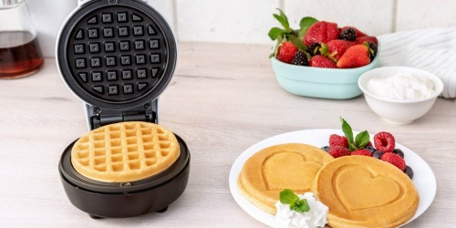 Bella Mini Waffle Makers as Low as $10.99 at Macy's | Heart & Smiley Face Iron Options