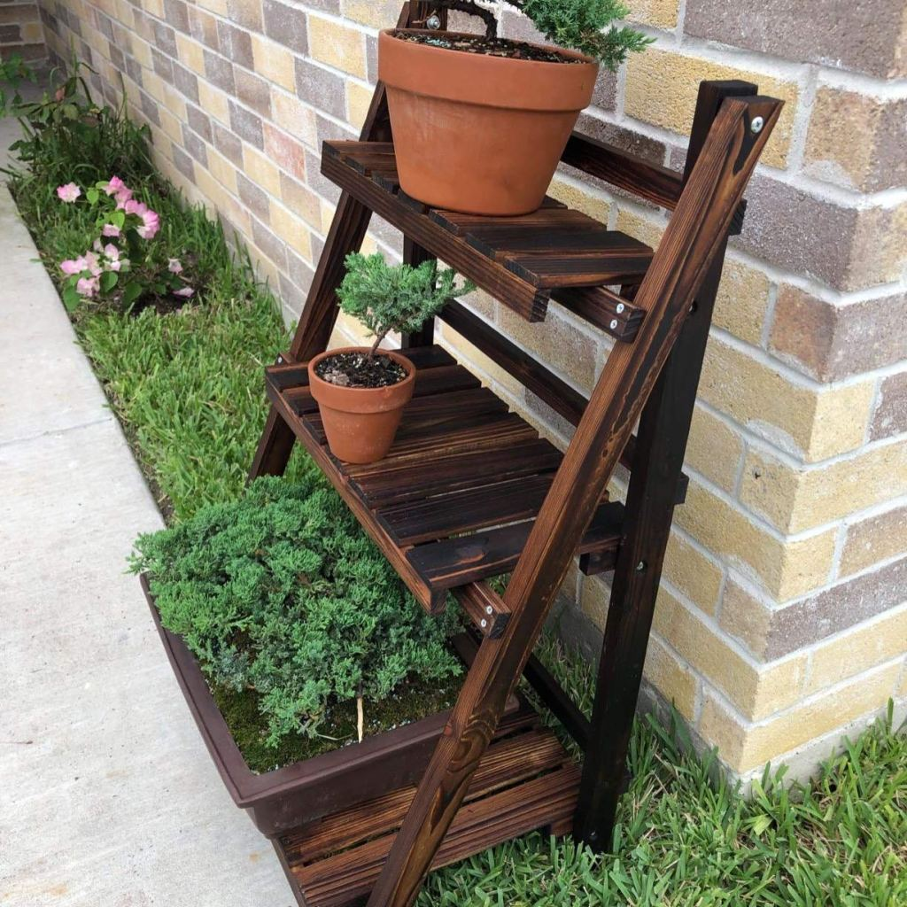 best choice folding shelf on outdoor walkway