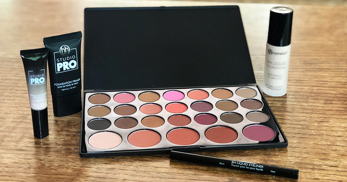 bh cosmetics products on a table