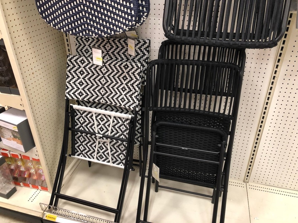 Target Clearance bistro chairs on shelf